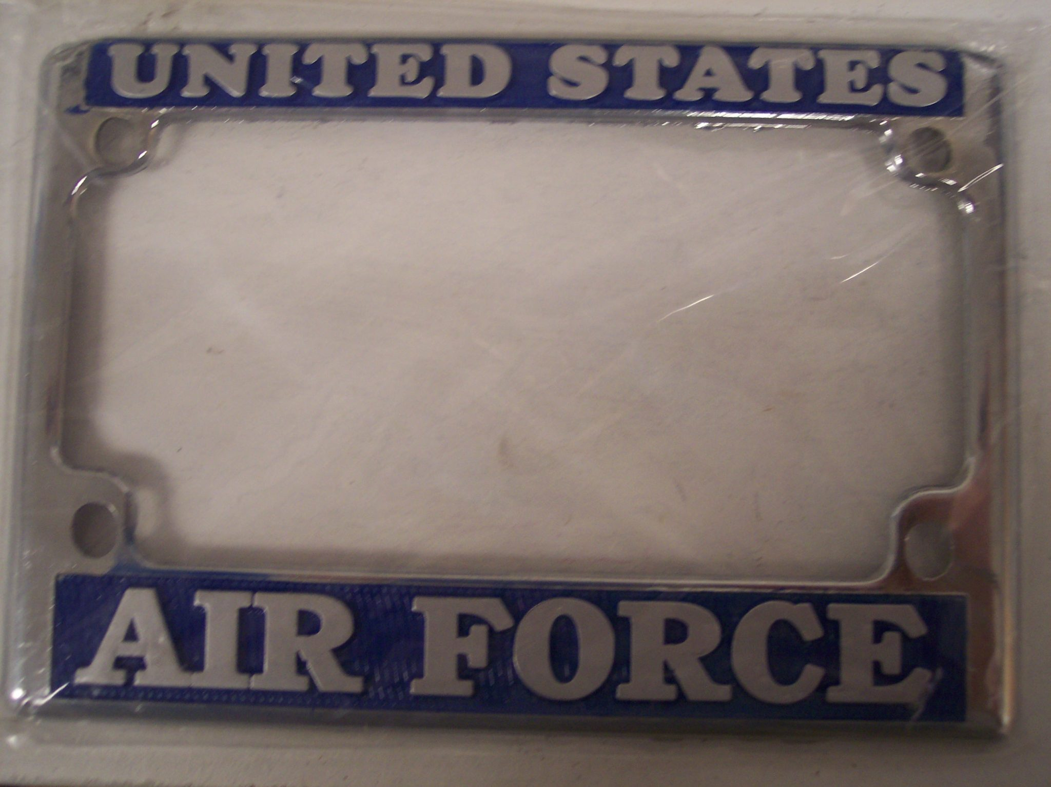 Air Force Chrome Motorcycle License Frame